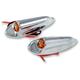 Chrome Front LED Turn Signals - TC-947
