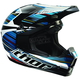 Black/Blue/White Quadrant Frequency Helmet