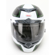 Black/Silver/Green RS-1 Stellar Helmet - Convertible To Snow