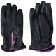 Womens Leather Driving Gloves w/Purple Piping