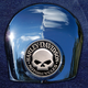 Crown 1.8 Inch Horn Cover Attachment With Harley Skull 2-Sided Coin - JMPC-HC-HSKULL