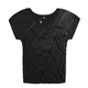 Womens Black Aurora Wedge T-Shirt