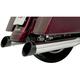 Black Ceramic Slash Billet End Caps For Quick Change Series Mufflers - BE40SB-2