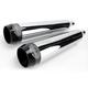 Chrome 3 1/2 in. Tru Power Slip-On Mufflers W/Black Tips - LA-1062-02B
