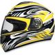 FX-100 Yellow Multi Helmet