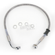 Rear Standard Length Clear-Coated Braided Stainless Steel Brake Line Kit - 1741-2924