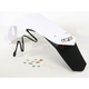 White Enduro Rear Fender with LED Light - YA03889-046