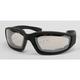 Black C-2 Performance Sunglasses w/Clear Mirror Lens - C-2BK/CLM