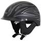Flat Black w/Silver Pinstripe FX-200 Helmet