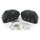 Drifter S4 Rigid-Mount Quick-Disconnect Saddlebags w/Integrated LED Marker Lights - 3501-0224-LEB