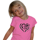 Childs Pink Heart T-Shirt