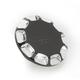 Gloss Black Vented Straight-Cut Gas Cap - 0703-0393