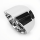 Chrome Slash Elite Exhaust End Cap For Vance & Hines 4 in. Monster Rounds Mufflers - 02042021SLACH