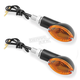 Black Oval Mini Stalk Marker Lights - 26-6016