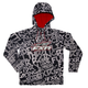 Youth Black/White Grind Ridge Tri-Laminate Hoody