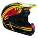 Youth Yellow/Red Splatter Quadrant Helmet