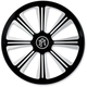 Contrast Cut Rivera Faceplate for Super Gas Air Cleaners - 0206-2010RIV-BM
