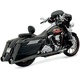 Black Ceramic +P Bagger Stepped True-Dual Exhaust System with Power Curve B1 Muffler w/Black End Caps - 1F56RB