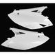 Kawasaki White Side Panels - KA04700-047