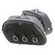 Drifter S4 Rigid-Mount Specific-Fit Quick-Disconnect Saddlebags w/Integrated LED Auxiliary Lights - 3501-0393-LEB