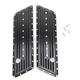 Gloss Black Dimpled Saddlebag Latch Covers - C1004-B