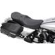 Low-Profile Touring Seat w/EZ Glide Backrest & Blue Pinstripe - 0801-0527