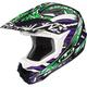 Black/Green/White Fuze CL-X6 Helmet
