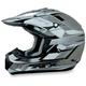FX-17Y Silver Multi Youth Helmet