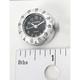 Spot Clock-Black Face w/Silver Bezel - SC5710SB