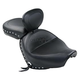 Studded Wide Touring Seat with Driver Backrest - 79470