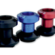 Black 6mm D Axis Spools - DXS-6-BK