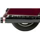 Ceramic Black 4 in. Slip-On Quick Change Series Mufflers - 1F740B
