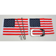 Straight License Plate Frame with 6 in. x 9 in. Flag Mount - RFM-LPM-S