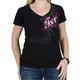 Womens Black/Fuchsia Scroll T-Shirt