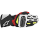 Black/White/Yellow/Red SP-2 Leather Gloves