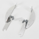 Polished Batwing Plate-Only Hardware - MEK1801