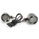 Titanium Coated Black Chrome Bullet LED Marker/Signal Light Kit with Standard Trim Ring and Amber LED - 2040-0808