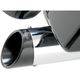 4 in. Angled-Out Slip-On Muffler w/Black Billet Tips - 1801-0585