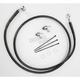 Front Extended Length Black Vinyl Braided Stainless Steel Brake Line Kit +4 in. - 1741-2546