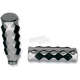 Chrome Billet Grips with Rubber Inserts - 0630-0569