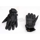 Jet Black Perforated Leather Gloves
