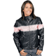 Ladies Striped Leather Jacket