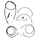 Midnight Stainless Handlebar Cable and Brake Line Kit for Use w/12 in. - 14 in. Ape Hangers w/ABS - LA-8050KT-13M