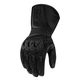 Black Compound Mesh Long Gloves