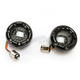 Black Bullet Ringz w/Amber LED Turn Signals - BTRB-A-1157-S