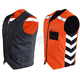 Black/Hi-Viz Orange Military Duty Reversible Safety Vest