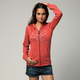 Womens Melon Invert Zip Hoody