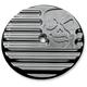 Chrome Machine Head Air Cleaner Insert - C0019-C