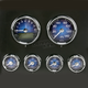 Classic Blue Medallion Premium Bagger Gauge Kit - 8960-00121-01