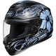 Black/Blue Goddess Qwest Helmet